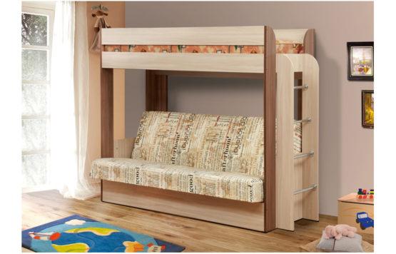 Кровать-чердак с диван-кроватью «Немо-2»