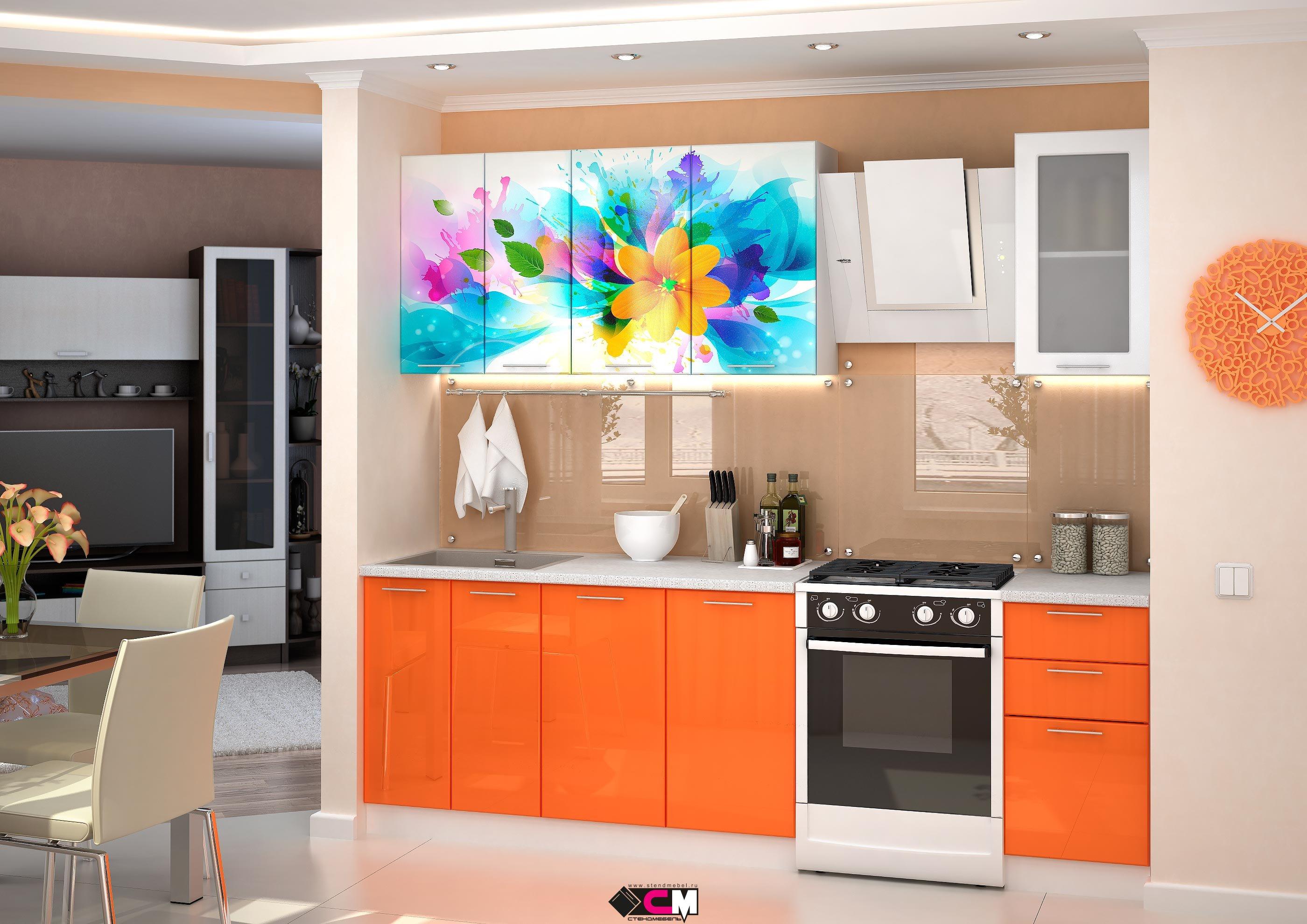 Кухня с фотопечатью.