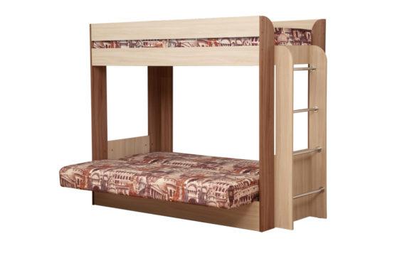 Кровать-чердак с диван-кроватью «Немо»