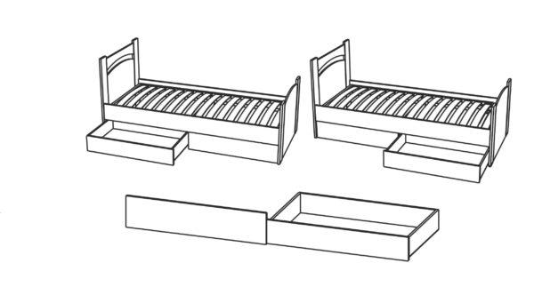 Ящик универсальный для кровати 900