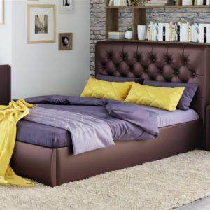 Мягкая кровать Беатриче Pearl bronze (подъемник)