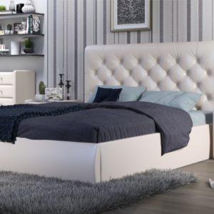 Мягкая кровать Беатриче Pearl shell (подъемник)