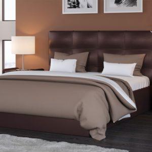 Мягкая кровать Вена Pearl bronze