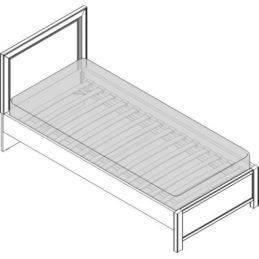 Кровать 1 сп. изг. прямоуг. (900мм) Спальни Camilla