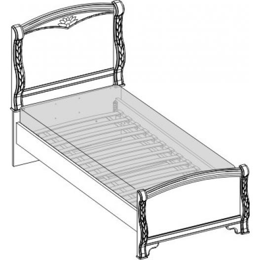 Кровать 1 спальная (900мм) Спальни Камелия Орех