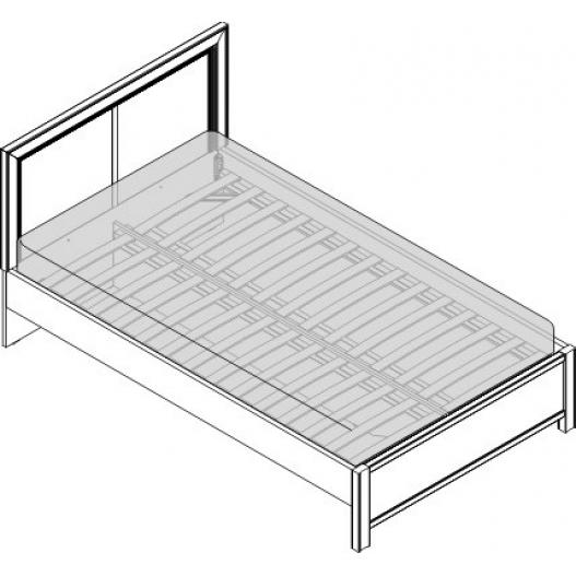 Кровать 1.5 сп. изг. прямоуг. (1200мм) Спальни Камелия Орех