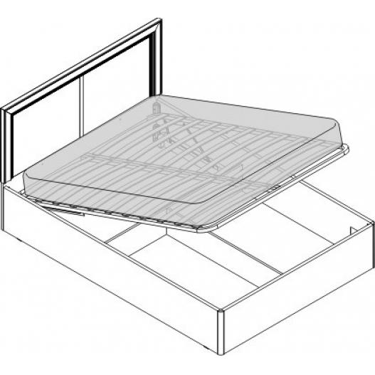 Кровать 1.5 сп. изг. прямоуг. с п/м (1400мм) Спальни Камелия Орех