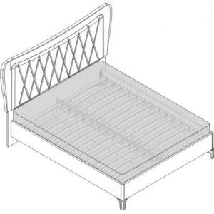 Кровать 2 сп. (1600мм) Спальни Opera