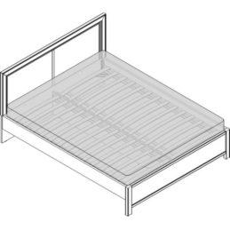 Кровать 2 сп. изг. прямоуг. (1600мм) Спальни Camilla
