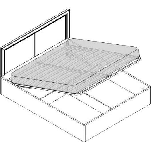 Кровать 2 сп. изг. прямоуг. с п.м (1600мм) Спальни Камелия Орех