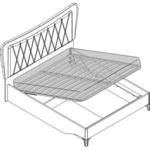 Кровать 2 сп. с п/м (1600мм) Спальни Opera