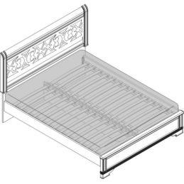 Кровать 2 спальная (1800мм) Спальни Лючия светлая