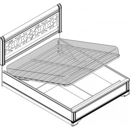Кровать 2 спальная с п/м (1600мм) Спальни Dante