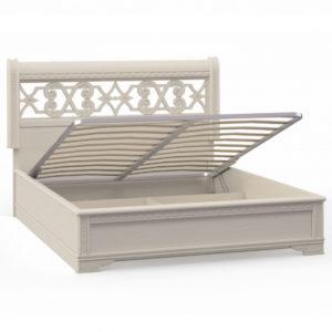 Кровать 2 спальная с п/м (1600мм) Спальни Лючия светлая