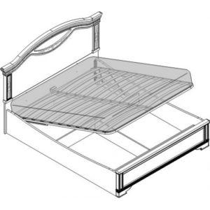 Кровать 2 спальная с п/м (1600мм)