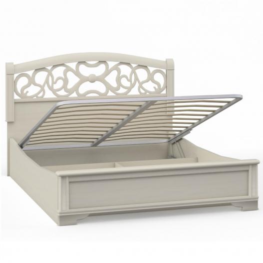 Кровать 2 спальная с п/м вставка ясень (1800мм) Спальни Tiffany Ясень