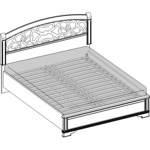 Кровать 2 спальная вставка ясень (1800мм) Спальни Tiffany Ясень