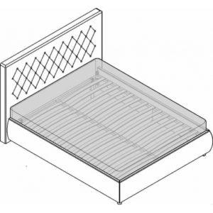 Кровать 2сп. (1600мм) Premier 09 Спальни Лючия светлая