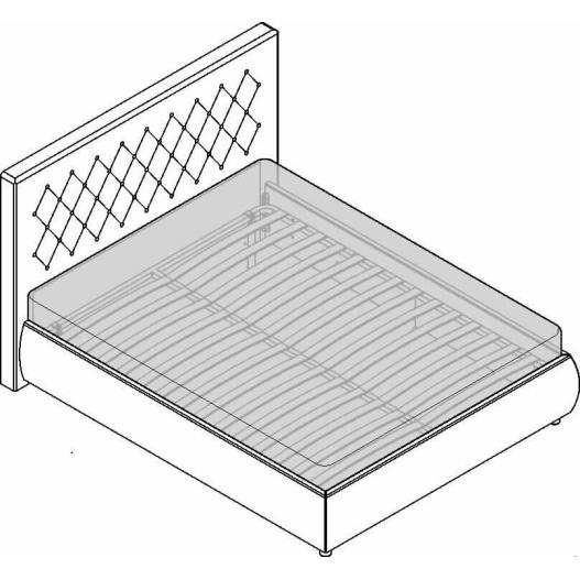 Кровать 2сп. (1600мм) Velur C7 Спальни Dante