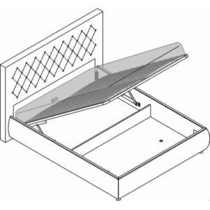 Кровать 2сп. с п/м (1600мм) Velur C7, д/матр.20-45кг
