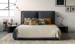 Мягкая кровать Эмилия Atlanta.grafit (подъемник)