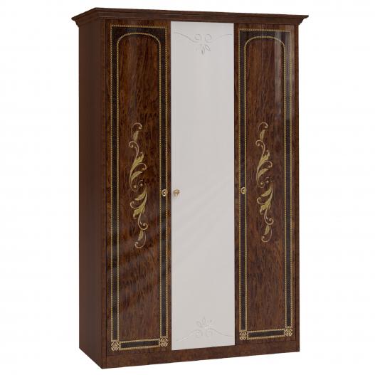 Шкаф 3 дв. (2+1) с зерк. Спальни Флоренция