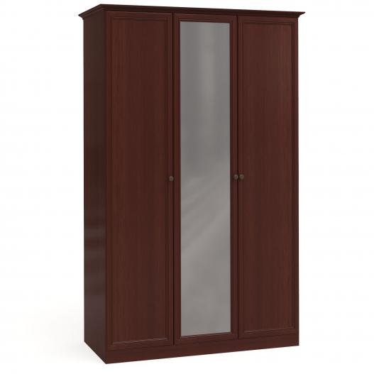 Шкаф 3дв. (2+1) с зерк. Спальни Камелия Орех