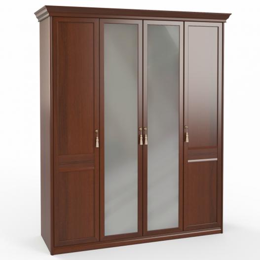 Шкаф 4 дв. (1+2+1) с зерк. Спальни Dante