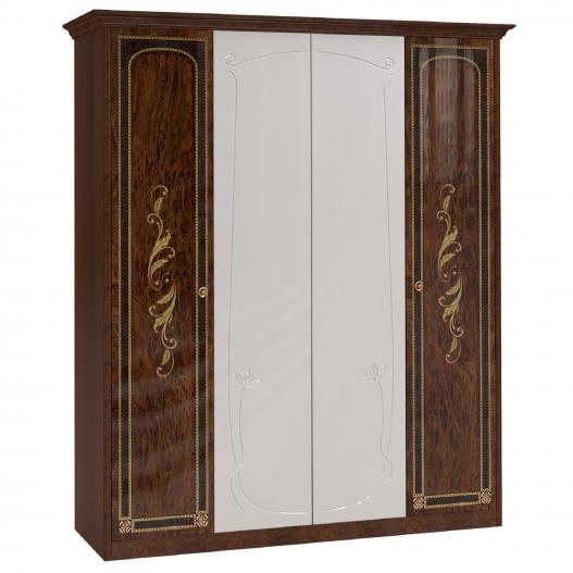 Шкаф 4 дв. (2+2) с зерк. Спальни Флоренция