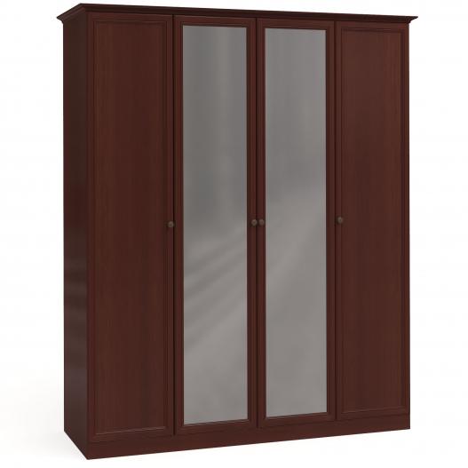 Шкаф 4дв. (1+2+1) с зерк. Спальни Камелия Орех