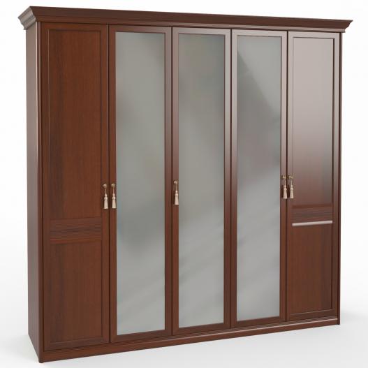 Шкаф 5 дв. (2+1+2) с зерк. Спальни Dante