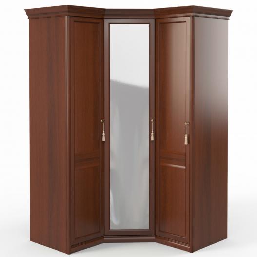 Шкаф угловой (1+угл.с зерк.+1) (дв.лев.,ограничит.) Спальни Dante