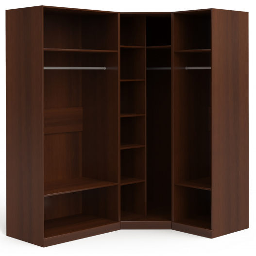 Шкаф угловой (2+угл.+1) (двери правые, ограничитель) Спальни Dante