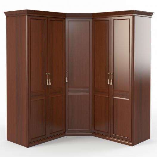 Шкаф угловой (2+угл.+2) (угл.дверь правая) Спальни Dante