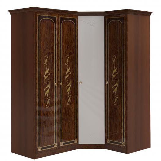 Шкаф угловой (2+угл.с зерк.+1) Спальни Флоренция