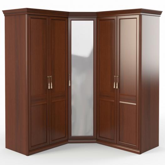 Шкаф угловой (2+угл.с зерк.+2) Спальни Dante