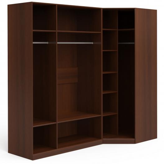 Шкаф угловой (3 (1+2)+угл.с зерк.) Спальни Dante