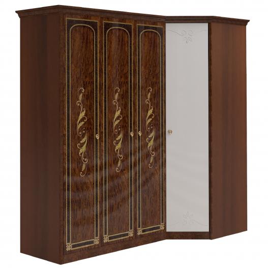 Шкаф угловой (3 (1+2)+угл.с зерк.) Спальни Флоренция