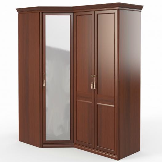 Шкаф угловой (угл.с зерк.+2) Спальни Dante