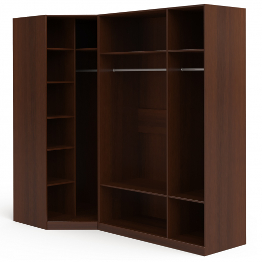 Шкаф угловой (угл.с зерк.+3 (2+1)) Спальни Флоренция