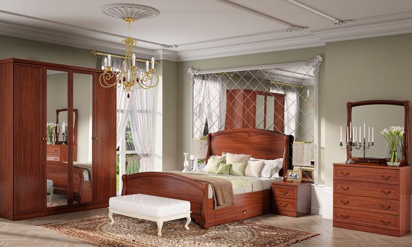 Спальня Камелия Орех Шатура