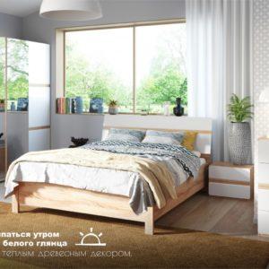 Спальный гарнитур Дакота Сонома/белый глянец