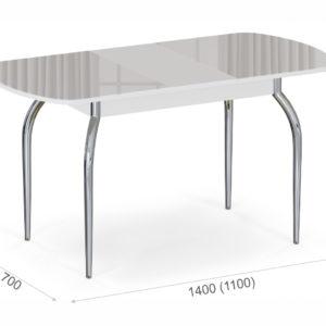 Стол обеденный Босфор раскладной Белый/стекло Белый
