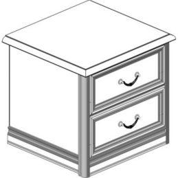 Тумба прикроватная 2 ящика (топ) Спальни Лючия светлая