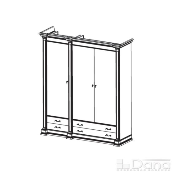 Шкаф Атланта №50-R