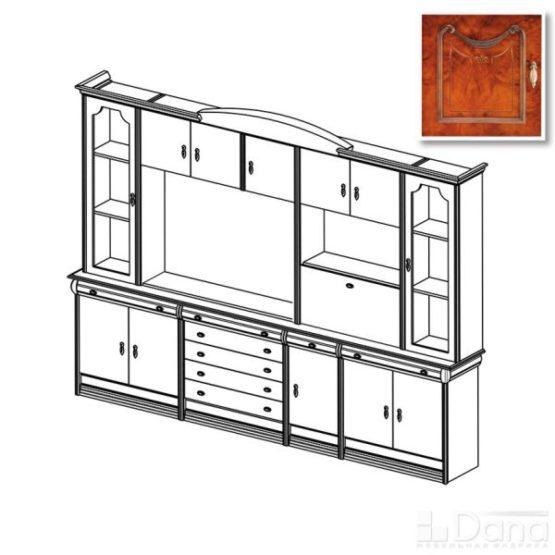 Стенка Париж №75 с модулем тв для плазменной панели
