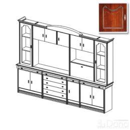 Стенка Вена №75 с модулем тв для плазменной панели
